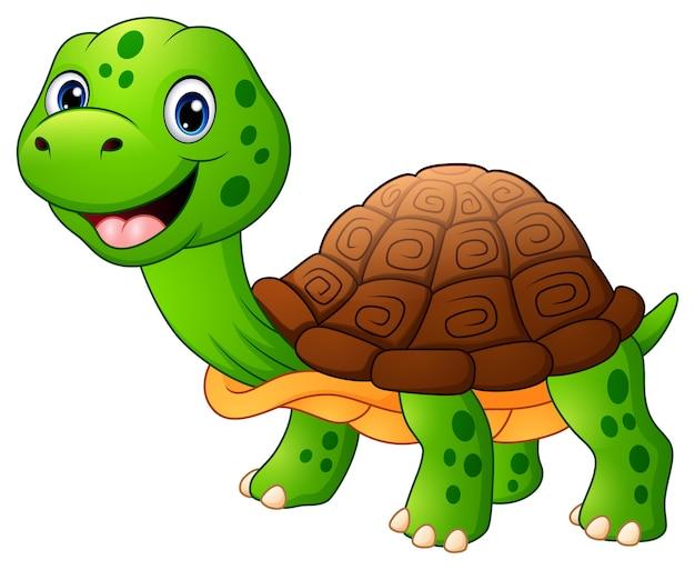 Caricature de tortue souriante