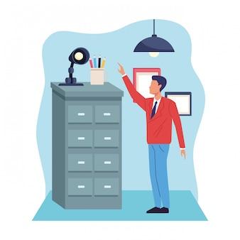 Caricature de travail professionnel exécutif