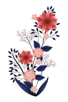 Caricature tropicale florale