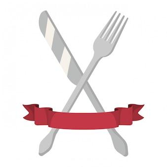 Caricature d'ustensiles de cuisine