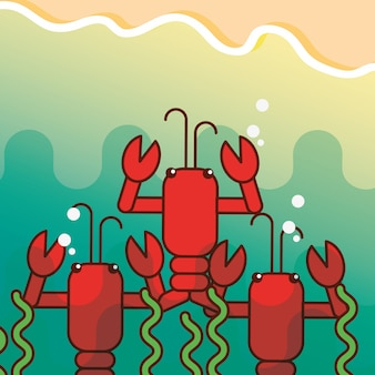 Caricature de la vie de mer