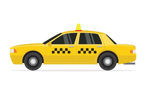 Caricature, voiture de taxi.
