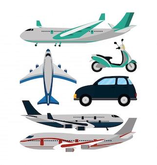 Caricature de voyage et de transport