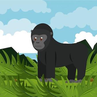 Caricatures d'animaux sauvages d'afrique