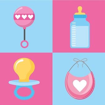 Caricatures de baby showers