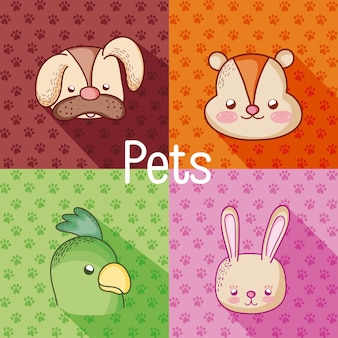 Caricatures de mignons animaux