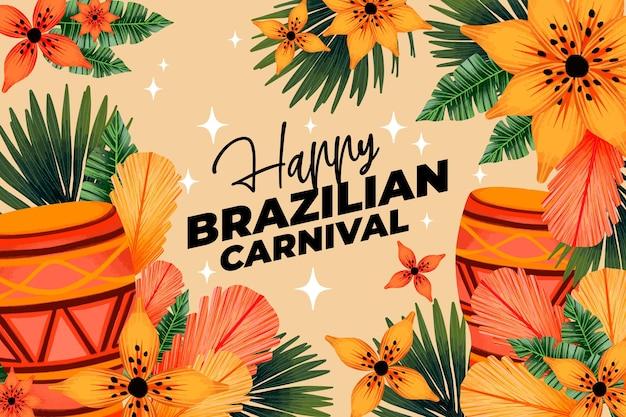 Carnaval brésilien aquarelle