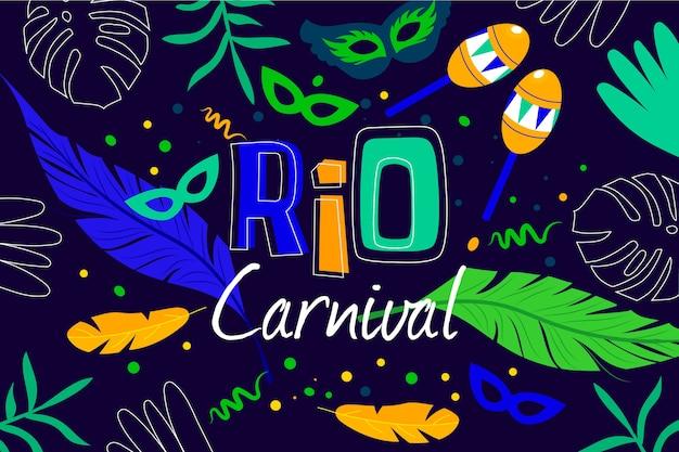 Carnaval brésilien au design plat