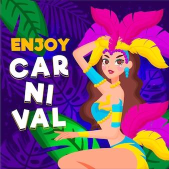 Carnaval brésilien dessiné à la main