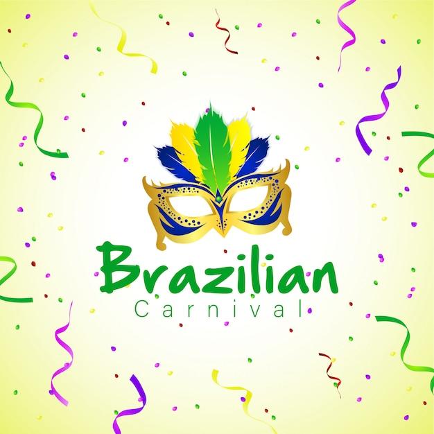Carnaval brésilien avec masque