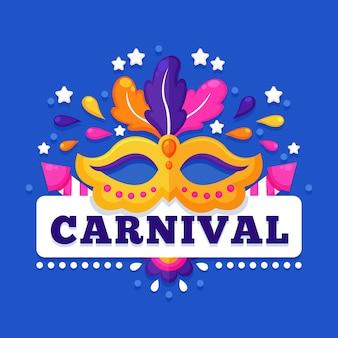Carnaval coloré au design plat