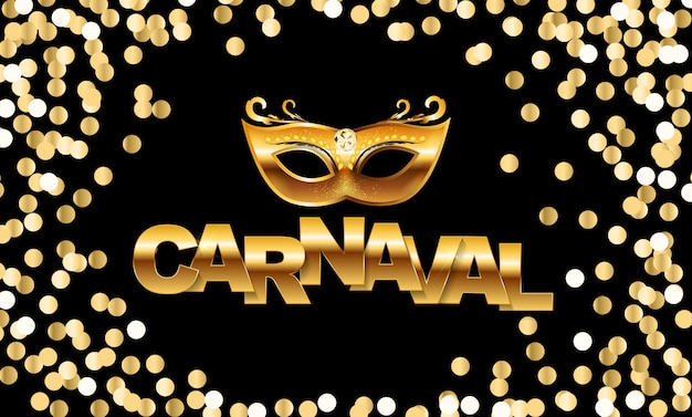 Carnaval avec des confettis