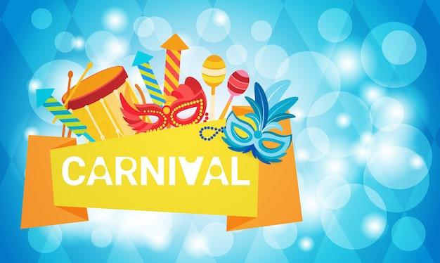 Carnaval du brésil coloré fête de vacances de rio
