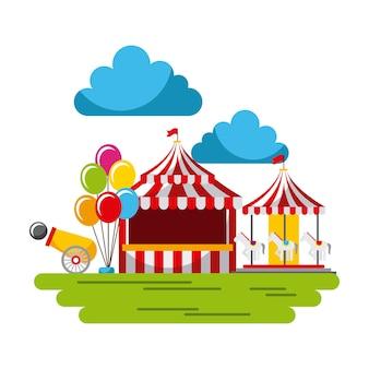 Carnaval fun festival fair cirque park