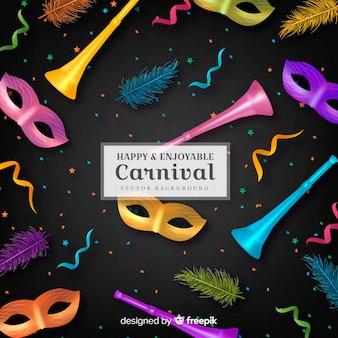 Carnaval heureux et agréable