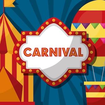 Carnaval juste festival planche à voile tente ballon à air