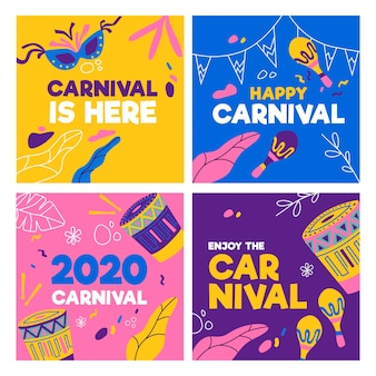 Carnaval party instagram post collection