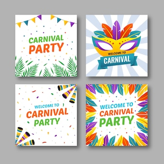Carnaval party posts pour instagram