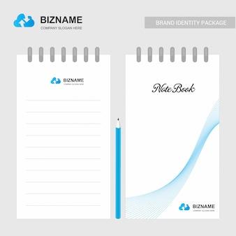 Carnet de compagnie et agenda avec vecteur de design créatif