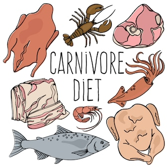 Carnivore diet organic healthy food