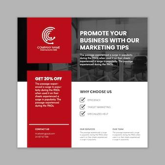Carré de flyer commercial marketing