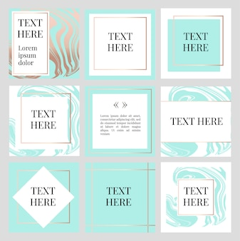 Carré frame fashion avec modèle de texte
