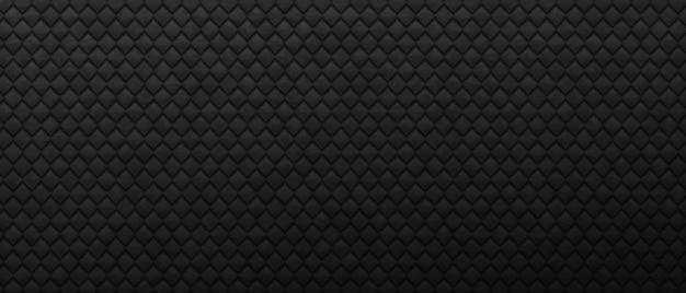Carré industriel géométrique fond sombre losanges monochromes d'entrelacs