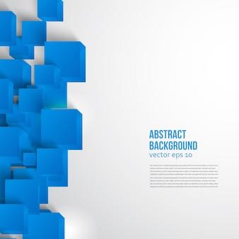 Carré vectoriel. carte de fond abstrait bleu.