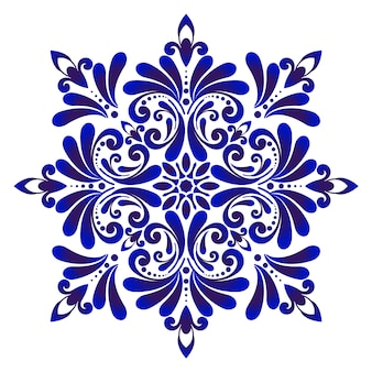 Carreau bleu décoratif