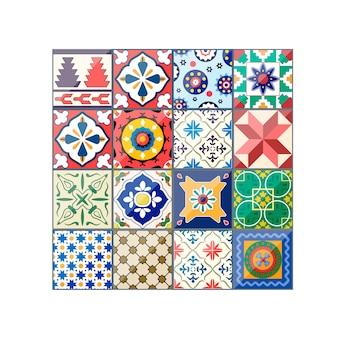 Carreaux d'azulejo de beau fond coloré