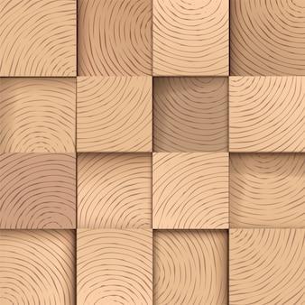 Carreaux en bois carrés, modèle sans couture.