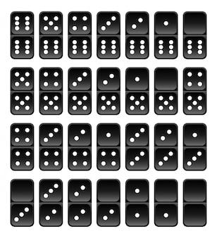 Carreaux de domino noirs