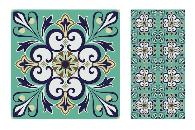 Carreaux motifs portugais antique design sans couture