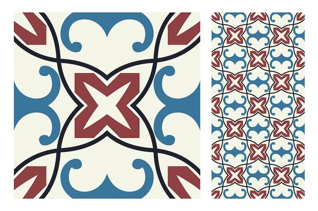 Carreaux motifs portugais antique design sans couture