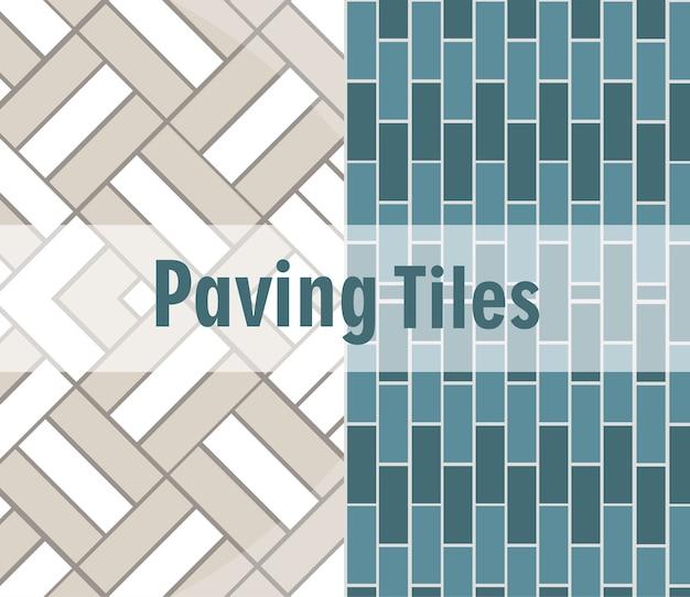 Carreaux de pavage motif de décoration textures de brique