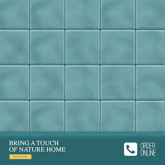 Carreaux de sol en céramique réalistes avec une touche de nature