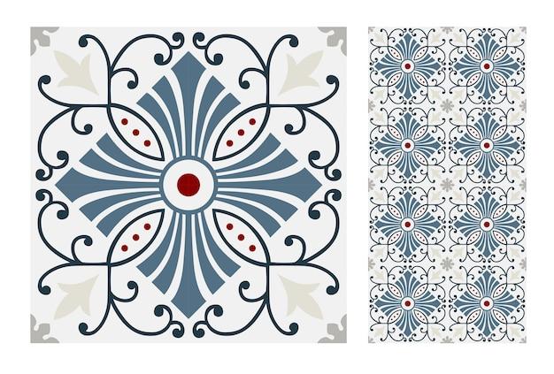 Carreaux vintage motifs design sans couture antique