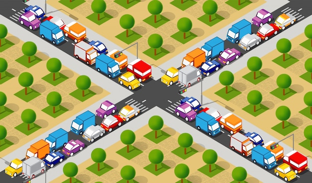 Carrefour isometric crossroads