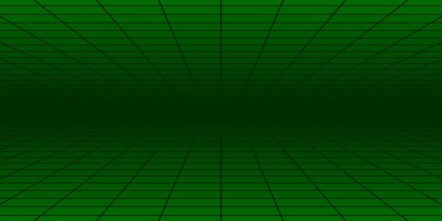 Carrelage abstrait avec perspective en couleurs vertes
