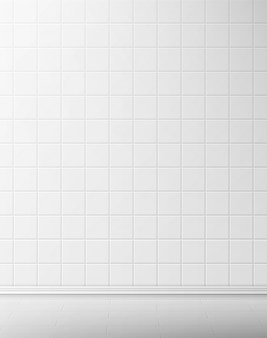 Carrelage et mur blanc dans la salle de bain