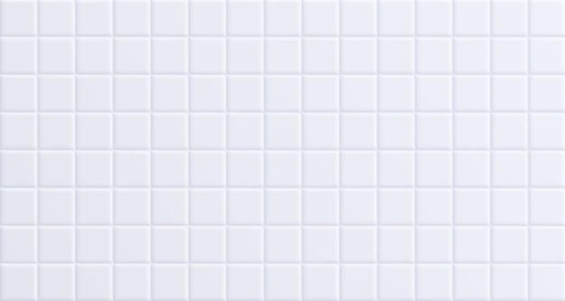 Carrelage de salle de bain blanc, fond de surface de mur en céramique propre.
