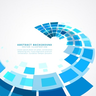 Carrés bleus fond abstrait
