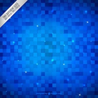 Carrés bright fond dans les tons bleus