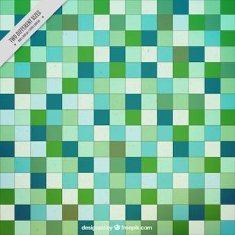 Les carrés verts de fond