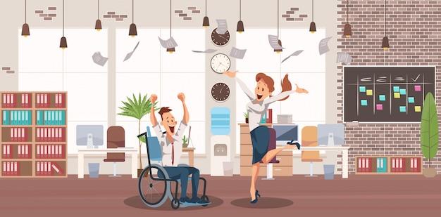 Carrière réussie de personnes handicapées