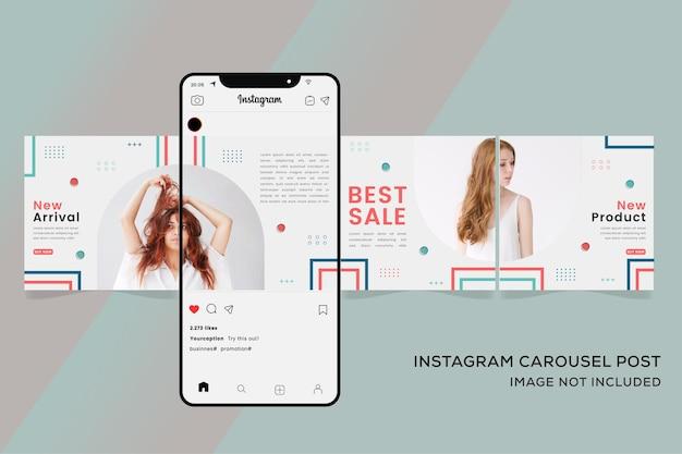 Carrousel instagram pour les modèles de bannière de vente de mode