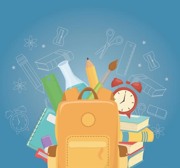 Cartable et fournitures à l'école