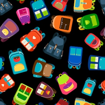 Cartables et sacs à dos scolaire illustration vectorielle transparente motif