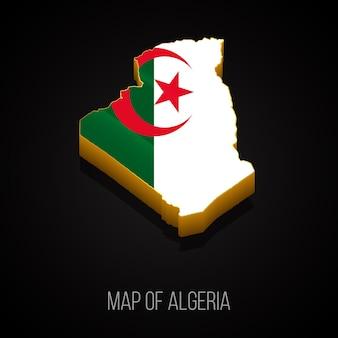 Carte 3d de l'algérie