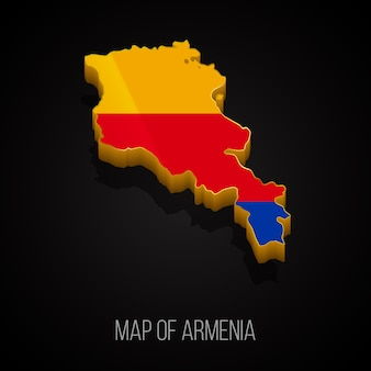 Carte 3d de l'arménie